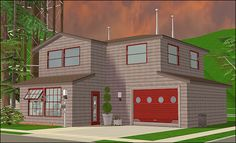 The Sims 2, Sims 1, Sims 2 House, 2000s, Oregon, Washington, Houses, House Design, Mansions