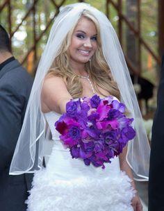 Christopher Carney & Tiffany Thornton wedding. Love the bouquet!