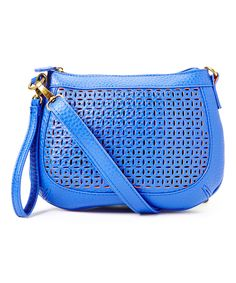 Love this T-Shirt & Jeans Cobalt Perforated Crossbody Bag by T-Shirt & Jeans on #zulily! #zulilyfinds