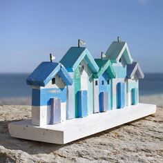 beach hut frieze by buy the sea | notonthehighstreet.com
