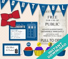 DIY+Deluxe+Printable+Doctor+Who+Party+Set+...+Use+by+LLPapergoods,+$24.00