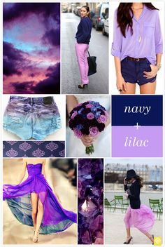 Color Crush: Navy + Lilac