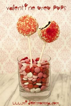 Valentine Oreo Pops