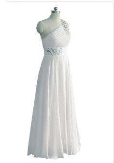 Faironly White One Shoulder Wedding Dress for Bride: Price: 	$89.00 [ http://www.phashionique.com/faironly-white-one-shoulder-wedding-dress-for-bride/ ]