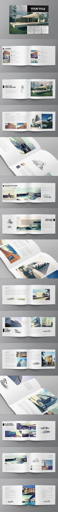 Minimal Colorful Brochure Brochures, Minimal and Behance - architecture brochure template