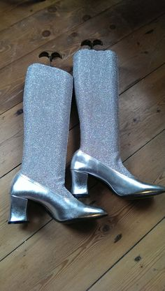 60s Silver Go-Go Mod Boots by TinSoldierVintage on Etsy