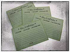 advice for the bride & groom card