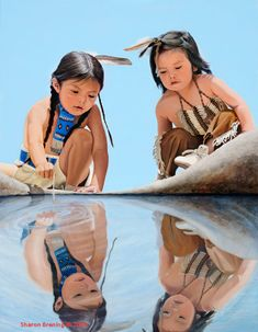Native American and Southwest Art and Jewelry – Turquoise Tortoise Gallery, Sedona Native Child, Native American Children, Native American Artwork, Native American Beauty, Native American Artists, American Indian Art, Native American History, Native American Indians, Cherokee Indians
