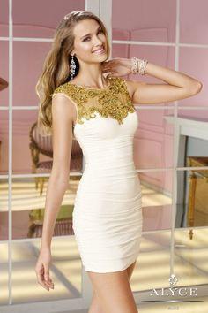 Beyaz İşlemeli Kısa Gece Elbiseleri ve Abiye Modelleri - 30 Yeni Model - Sade Kadınlar