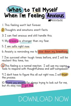Anxiety Coping Skills, Anxiety Tips, Anxiety Help, Social Anxiety, Things To Help Anxiety, Anxiety Activities, Mental And Emotional Health, Inspiration Quotes, Mental Health