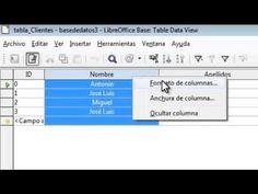 LibreOffice - Base de Datos - TEMA 2: Creación y trabajo con tablas (bases de datos).