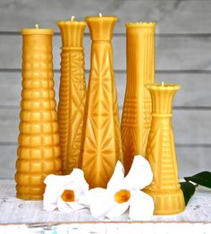 Beeswax Candle Gift Set - Milk Glass Vase Collection | Home Decor | Deva America | Scoutmob Shoppe | Product Detail