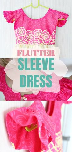 I have a really fun and easy sewing project to share with you today, a super easy flutter sleeve dress pattern! Kids Dress Patterns, Sewing Patterns For Kids, Sewing For Kids, Free Sewing, Diy For Kids, Dress Sewing Tutorials, Diy Sewing Projects, Sewing Projects For Beginners, Sewing Tips