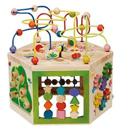 Maxim Everearth Garden Activity Cube 33285 Wooden Toys & Wagons on Sale Now! Everearth Garden Activity CubeThis item stands out above the rest by Toddler Toys, Baby Toys, Kids Toys, Children's Toys, Cubes, Fine Motor Skills Development, Eco Friendly Toys, Activity Centers, Activity Tables