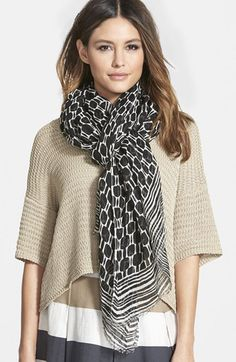 Weekend+Max+Mara+'Rubiera'+Linen+Scarf+available+at+#Nordstrom