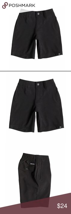 🆕Boys 4-7 Quiksilver Everyday Amphibian Shorts Quiksilver Boys 4-7 Everyday  Amphibian Shorts 40545009-01 Features include 4-way stretch fabric, regular fit, zip-up fly with  snap closure, small label on the hem, belt loops on the waistband and a fabric composition of 92% Polyester 8% Elastane. Quiksilver Bottoms Shorts