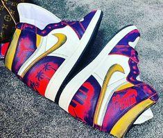 Jordan Casual Shoes, Jordan Outfits, Air Jordan Shoes, Casual Sneakers, Jordans Sneakers, Sneakers Fashion, Air Jordans, Fashion Shoes, Custom Jordan Shoes