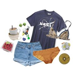 ride the lightning by kampow on Polyvore featuring Eberjey and Rabens Saloner