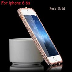 Hot! Top Quality Luxury Bling Snake Inlay Diamond Crystal Metal Bumper Back Cover Phone Case for iPhone 5 5S 6 6S 6 Plus 6S Plus