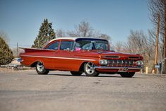 1959 Chevy BelAir -  Love this!! Colour and everything...