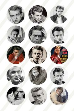 JAMES DEAN Digital Collage Sheet 1 inch by smokesignalcreations, $1.00