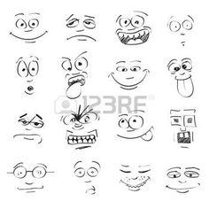 expression visage: mettre de l'émotion sur les visages de bande dessinée                                                                                                                                                                                 Plus - Laurent Le Guidec - #bande #de #dessinée #expression #Guidec #Laurent #Le #lémotion #les #mettre #sur #visage #visages Cartoon Eyes, Easy Cartoon, Female Cartoon, Girl Cartoon, Face Images, Cartoon Sketches, Sketch Notes, Face Expressions, Stick Figures