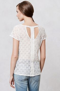 Pinhole Lace Tee by Anthropologie