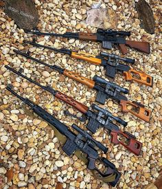 📸 ・・・ Is SVD Sunday a thing? Some Commie Bloc Sniper Goodness. From the top: Yugoslavian in Mauser, Romanian PSL in Chinese in Chinese. Military Weapons, Weapons Guns, Guns And Ammo, Army Wife, Armas Wallpaper, Sniper Training, Assault Rifle, Cool Guns, Fantasy Weapons