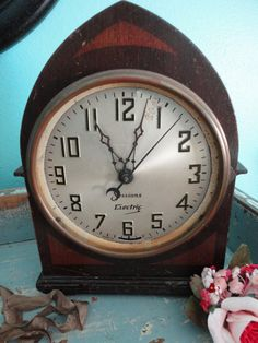 Old Sessions clock for repurposing by sweetoldthings on Etsy, $25.00