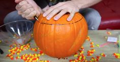 WATCH: He Grabs A Pumpkin And Draws A Circle On It. What He Does Next Is Simply Awesome. [VIDEO]