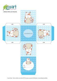 Cajita cubo con gato