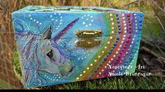 Hand painted Unicorn keepsake box £16.00