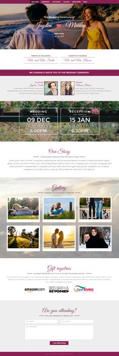 A clean and beautiful responsive wedding bootstrap theme with touch ready lightbox gallery. The theme also includes jquery validation in rsvp form. This responsive wedding bootstrap template is ideal for wedding sites, anniversaries and celebration events.