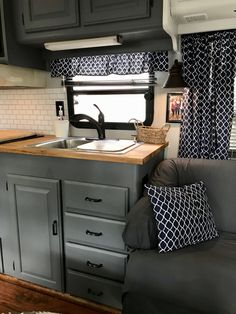 I've written in detail about our 1990 Winnebago Class A Motorhome remodel in p.I've written in detail about our 1990 Winnebago Class A Motorhome remodel in previous posts & now I'll wrap it all up with lots of before & after pict. Rv Camping, Camping Ideas, Camping Equipment, Glamping, Camping Kitchen, Camping Cooking, Camping Hacks, Outdoor Camping, Camping Gadgets
