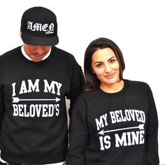 "A Him and Hers Sweatshirt Designed with couples in mind! Share the Lord in your relationship with this cute pairing. Inspired by Song of Solomon 6:3 ""I am my beloved's and my beloved is mine: JCLU Forever Christian T-Shirts,Christian Apparel,Christian Clothing Store"