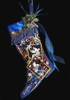 Elvis Christmas stocking a custom handmade by WildAboutChristmasNV, $195.00