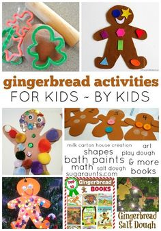 Gingerbread Christmas activities for kids and by kids