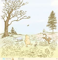 EK Success - Disney Collection - Classic Pooh - 12 x 12 Paper with Glitter Accents - Romp in the Woods at Scrapbook.com $1.69