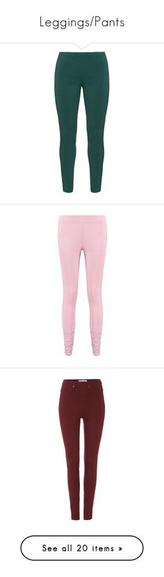 """Leggings/Pants"" by passionfriut ❤ liked on Polyvore featuring pants, leggings, bottoms, plus size, plus size green leggings, high waisted pants, high-rise leggings, slimming leggings, stretch leggings and pink leggings"