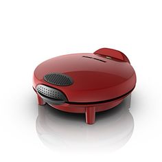 """George Foreman Electric Quesadilla Maker, Red, GFQ001  10-Inch Quesadillas - Easier than the stovetop and better results than the microwave, this handy quesadilla maker pumps out large, deliciously crunchy snacks and appetizers in no time  Nonstick Cooking Surface - """"Gooey"""" is good for quesadillas, but bad for cleanup; not here, though-the nonstick cooking surface wipes clean after every use, leaving no gooey goodness behind  6 Deep-Dish Pockets - Pack in maximum flavor! Deep-dish pock..."""