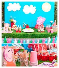 Ideas para fiesta de cumpleaños de Peppa Pig (Peppa la Cerdita). Muy pronto en www.siemprefiesta.com