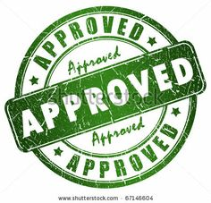 Approved stamp by Arcady, via Shutterstock