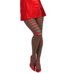 Candy-Cane-Tights-Stockings-Women-Xmas-Holiday-Red-Green-Stripe-Stripes-Sexy-Fun