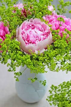 A Bunch for the Weekend-# 54-Pink Peonies and Alchemilla mollis-Ingrid Henningsson-Of Spring and Summer