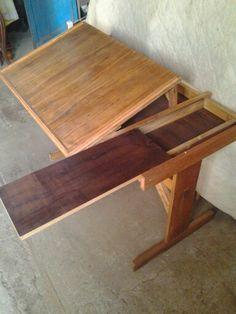 Mesa de desenho após restauração.