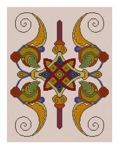 Medieval Illuminated design for cross stitch PDF pattern. $3.99, via Etsy.
