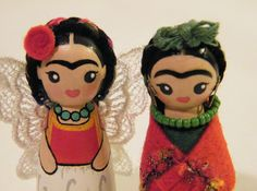 Frida Kahlo Peg Dolls by My Mayan Colors