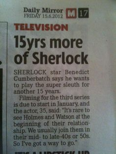 I'm VERY okay with this impossible decision. But, can you even begin to imagine the fandom 15 years from now? The emotional damage to Sherlockians due to this show will become its own branch of psychological study.