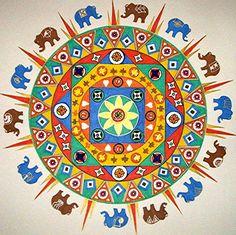Elephant Mandala by Pouky Cat
