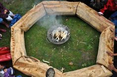 The finished fire pit